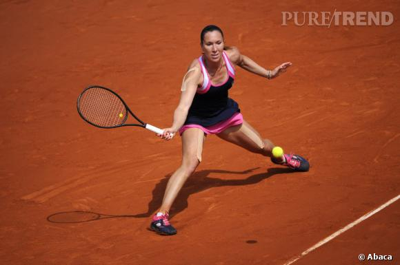 Jelena Jankovic sur le court...