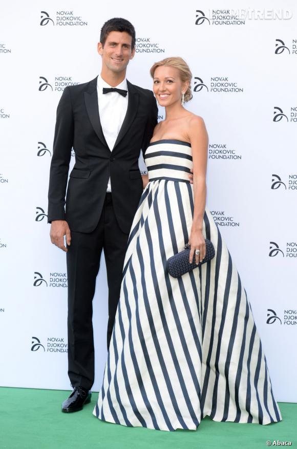 Novak Djokovic et sa petite amie.