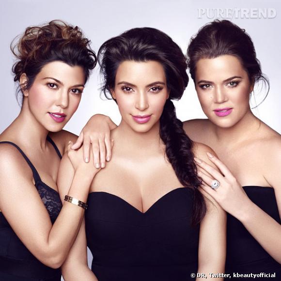 Les soeurs Kardashian, Kourtney, Kim et Khloe (de gauche à droite) sont de retour dans le monde de la beauté.