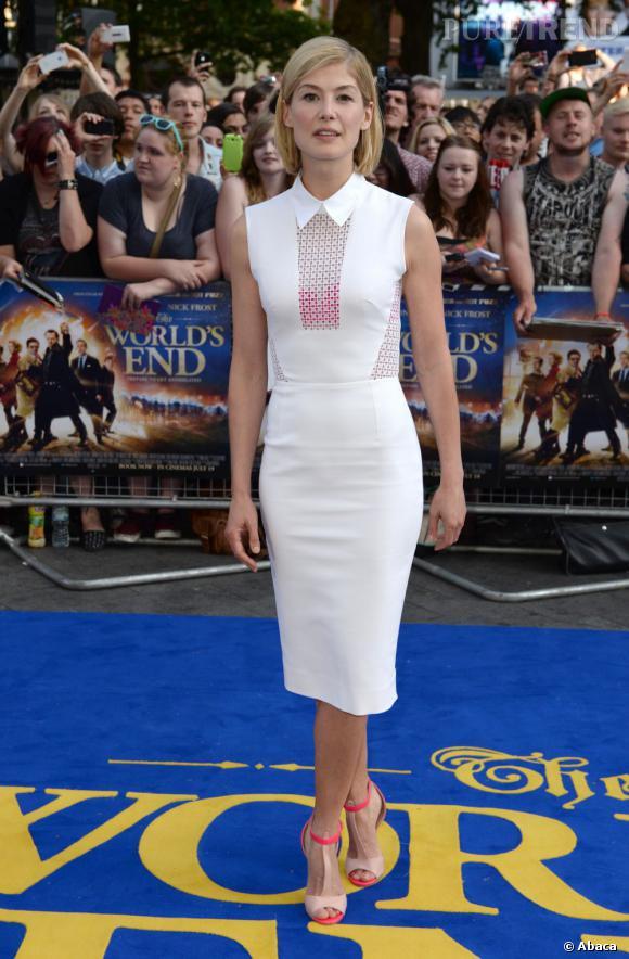 Rosamund Pike en Victoria Beckham Printemps-Été 2013.
