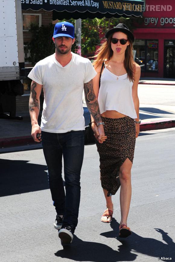 Adam Levine et sa désormais fiancée Behati Prinsloo.