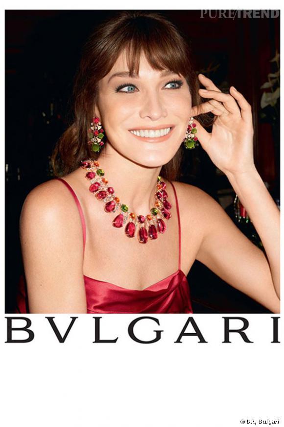 Carla Bruni-Sarkozy photographiée par Terry Richardson pour la collection Diva de Bulgari.