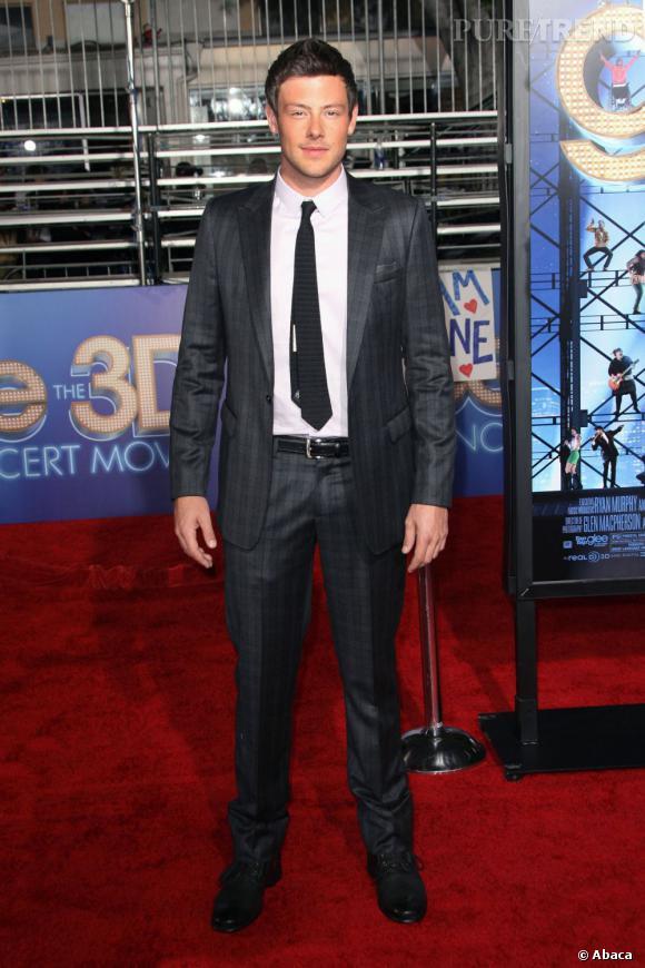 """Cory Monteith lors de l'avant-première du film """"Glee 3D Tour""""."""