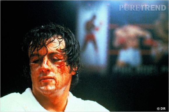 """Sylvester Stalone, tout en sang pour """"Rocky""""."""