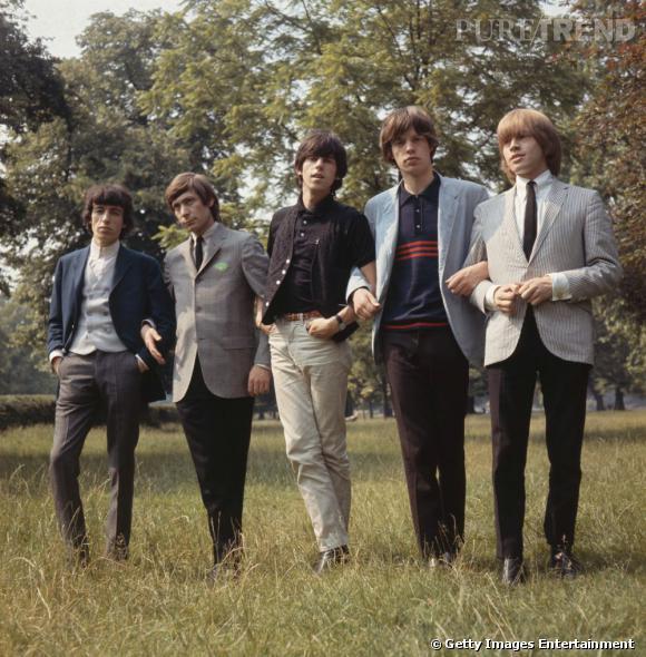 Au début de sa carrière au sein des Rolling Stones dans les 60's, Mick Jagger cultive une allure bcbg, le gendre idéal.