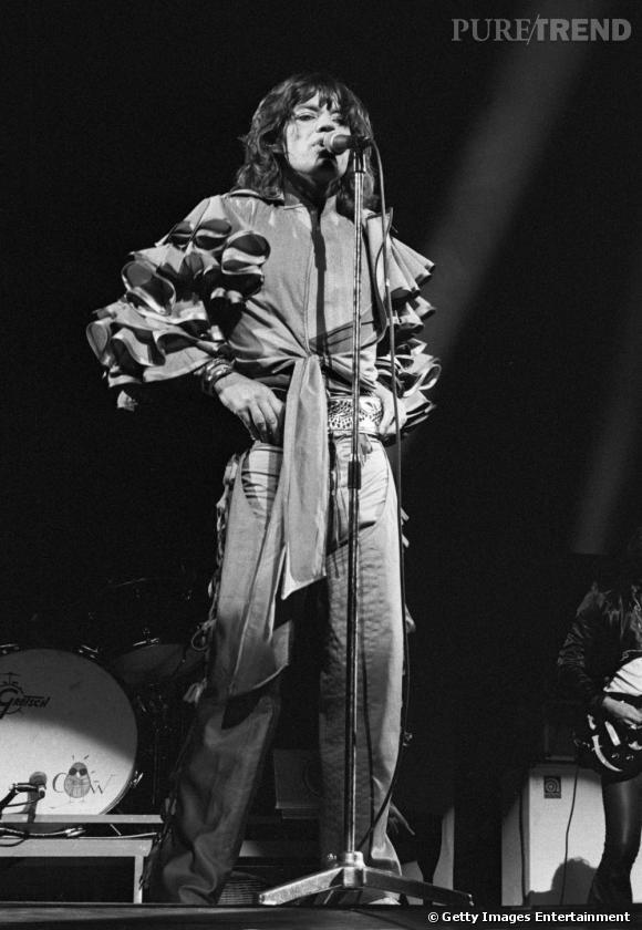 Mick Jagger lors de son passage en Allemagne en 1976.