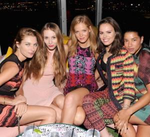 Erin Heatherton prend la pose avec Jessica Hart, Harley Viera Newton, Atlanta De Cadenet Taylor et Hannah Bronfman.