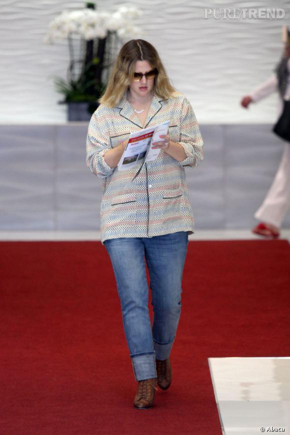 Stars enceintes :     Le top de Drew Barrymore :  tendance, elle fait déjà plus d'efforts.