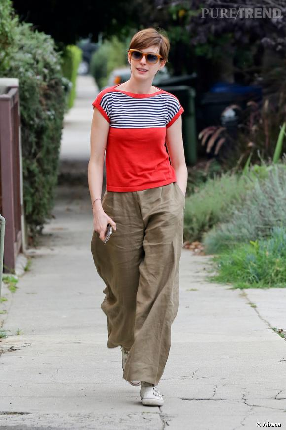 Comme Anne Hathaway adoptez les baskets !