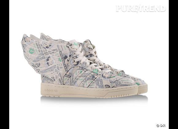Comme les stars adoptez les baskets !    Baskets Adidas Originals by jeremy Scott, 220 € sur Shoescribe.com