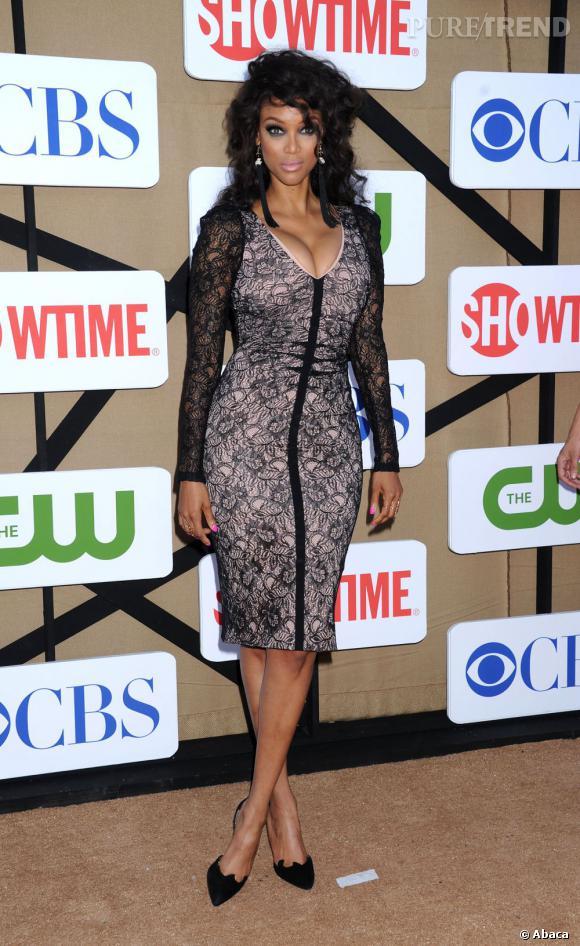 Tyra Banks à la soirée d'été CW, CBS et Showtime pour la Television Critics Association.