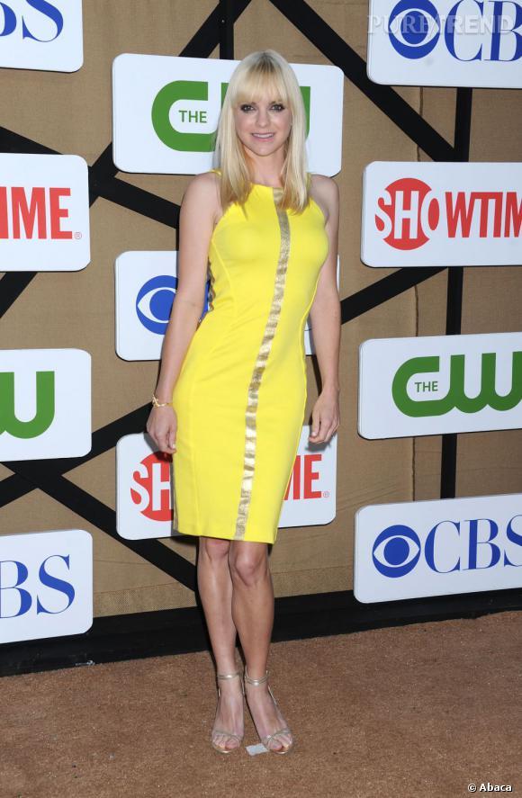 """Anna Faris pour la future série """"Mom"""" à la soirée d'été CW, CBS et Showtime pour la Television Critics Association."""
