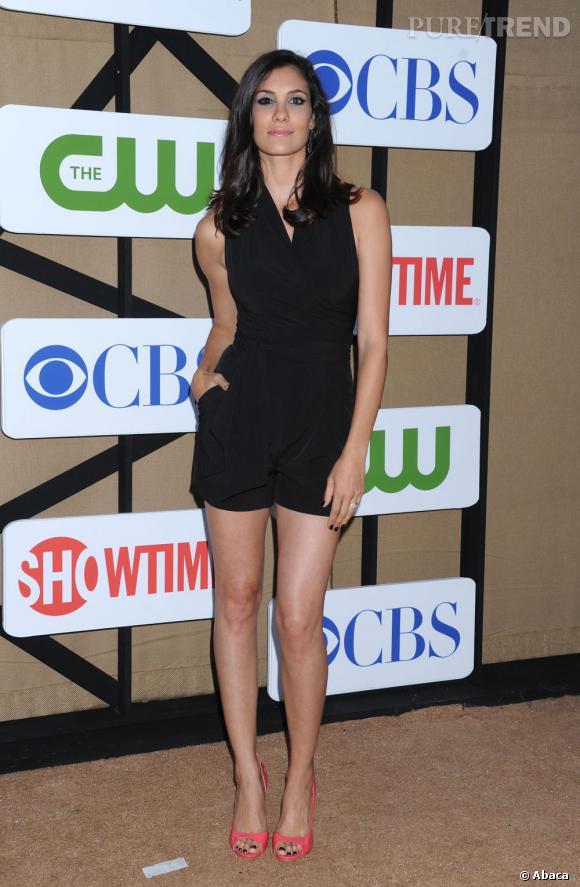 """Daniela Ruah de """"NCIS : Los Angeles"""" à la soirée d'été CW, CBS et Showtime pour la Television Critics Association."""