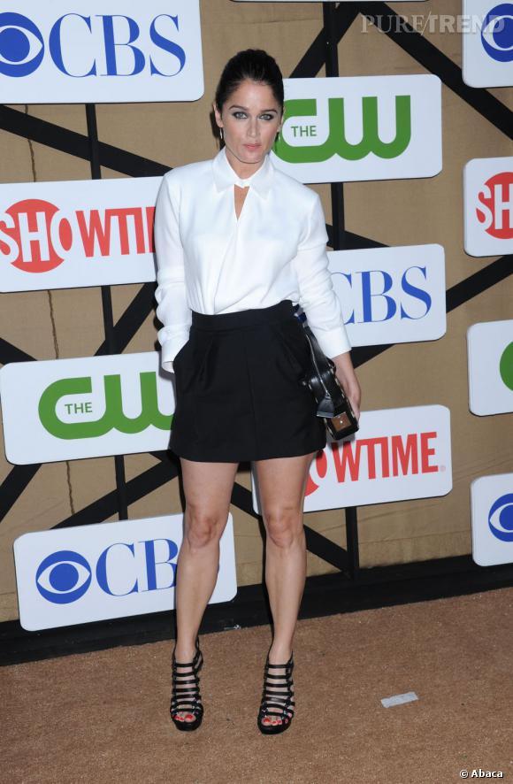 """Robin Tunney de """"The Mentalist"""" à la soirée d'été CW, CBS et Showtime pour la Television Critics Association."""