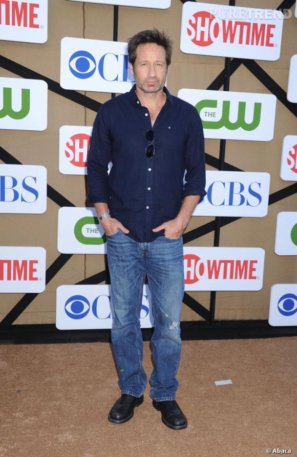 """David Duchovny pour """"Californication"""" à la soirée d'été CW, CBS et Showtime pour la Television Critics Association."""