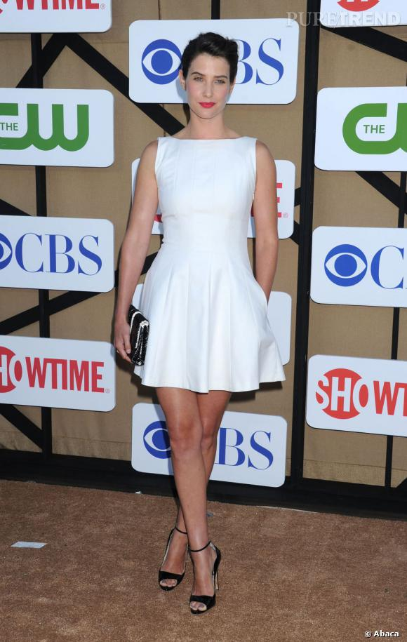 Cobie Smulders à la soirée d'été CW, CBS et Showtime pour la Television Critics Association.
