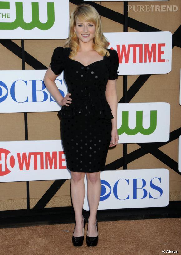 """Melissa Rauch de """"The Big Bang Theory"""" à la soirée d'été CW, CBS et Showtime pour la Television Critics Association."""