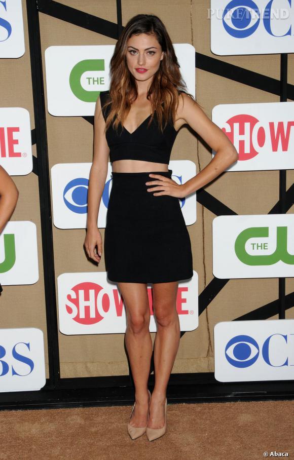 """Phoebe Tonkin de la série """"The Vampire Diaries"""" et """"The Originals"""" à la soirée d'été CW, CBS et Showtime pour la Television Critics Association."""