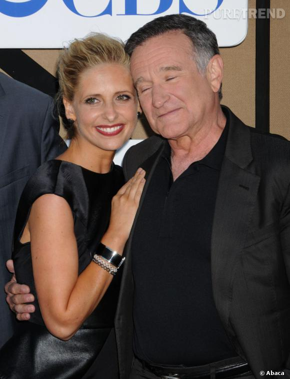 """Sarah Michelle Gellar et Robin Williams de la série """"The Crazy Ones"""" à la soirée d'été CW, CBS et Showtime pour la Television Critics Association."""