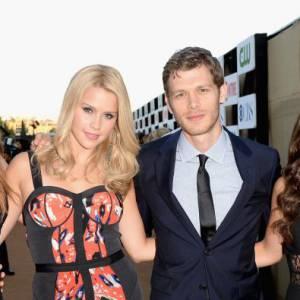 """Le casting de """"The Originals"""", dont Claire Holt et Joseph Morgan, à la soirée de l'été CW, CBS et Showtime."""