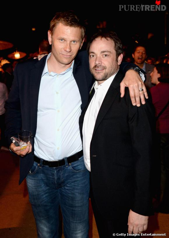 """Mark Pellegrino et Mark Sheppard de la série """"Supernatural"""" à la soirée de l'été CW, CBS et Showtime."""