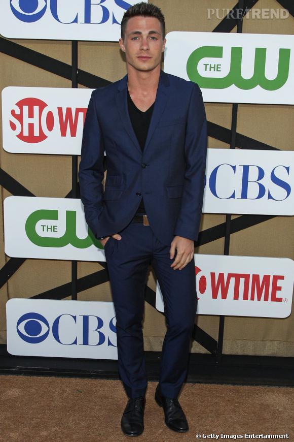 """Colton Haynes de """"Arrow"""" à la soirée de l'été CW, CBS et Showtime."""