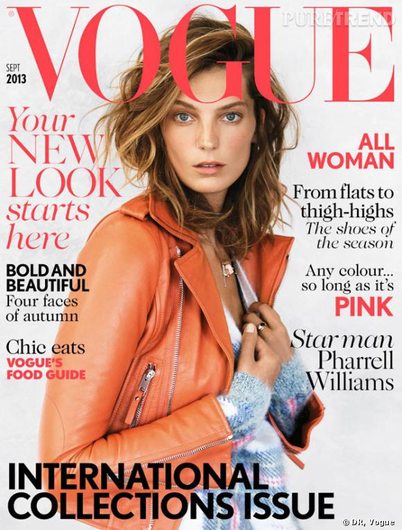 Couverture du magazine  Vogue  british du mois de septembre 2013.