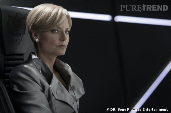 """Jodie Foster interprète le rôle de la Ministre Rhodes dans le film """"Elysium"""" en salles mercredi 14 août prochain."""
