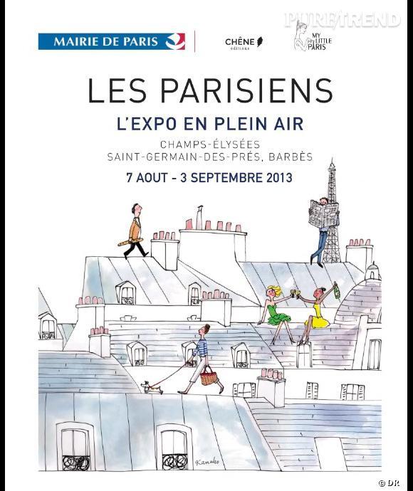 """Exposition """"Les Parisiens"""" dans les rues de Paris jusqu'au 3 septembre prochain."""