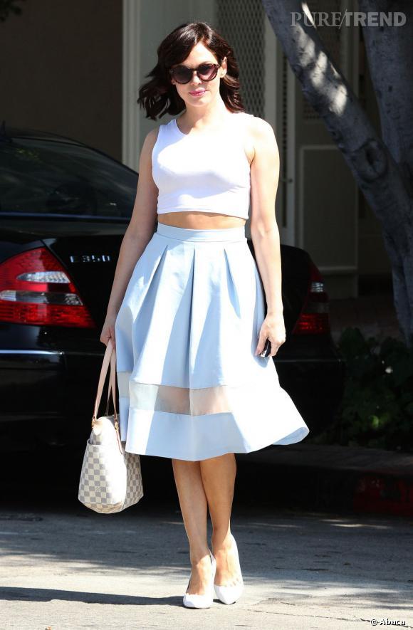 Rose McGowan dans les rues de Beverly Hills.