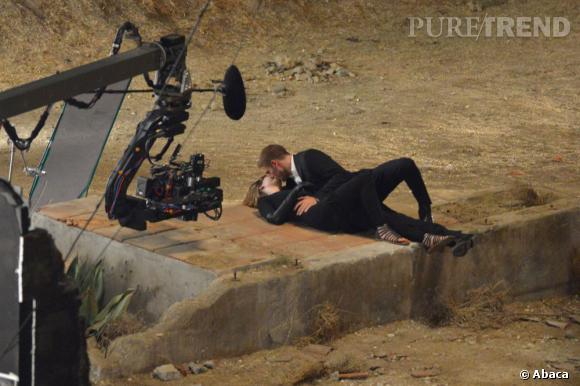 Robert Pattinson en tournage à Los Angeles.