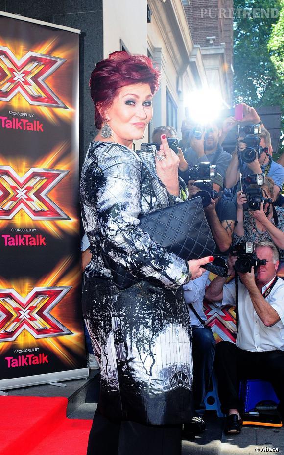 Sharon Osbourne très classe à Londres.