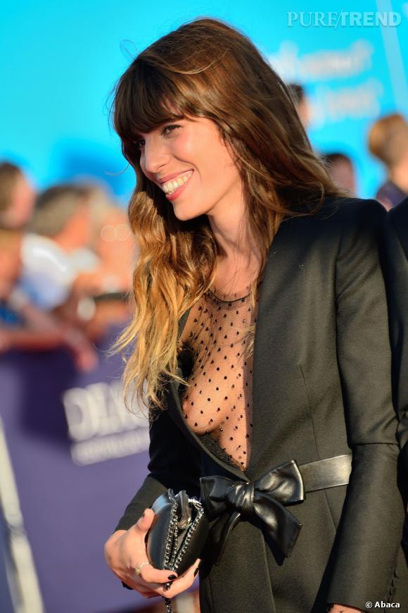 Lou Doillon et son sein au Festival du film américain de Deauville 2013.