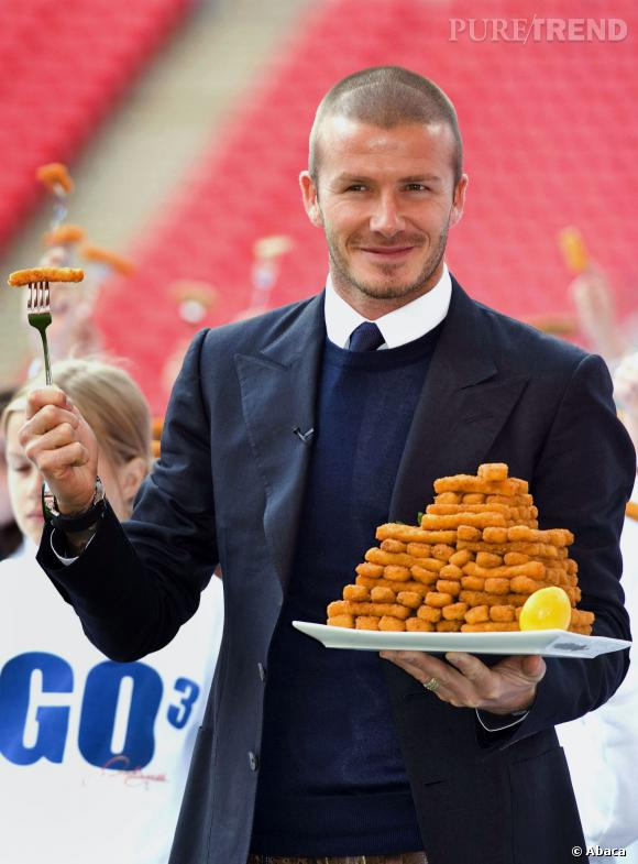 On ne savait pas David Beckham si gourmand...