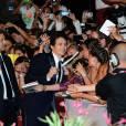 """James Franco s'offre un bain de foule lors de la première de """"Child of God"""" à la Mostra de Venise en 2013."""