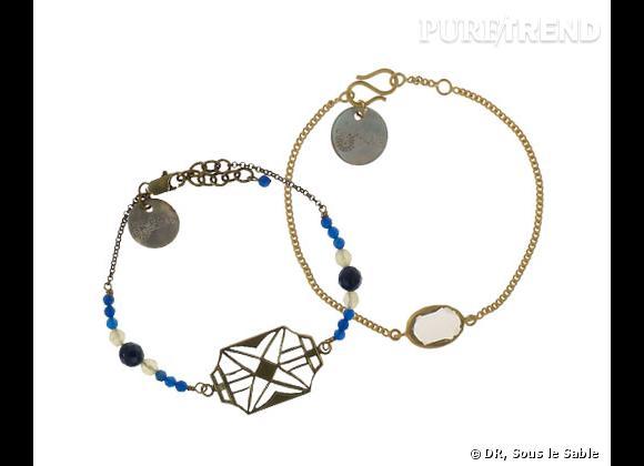 Les bijoux Sous le Sable de Juliette Daubard.