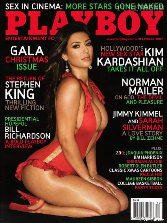 Kim Kardashian pour Playboy décembre 2007.