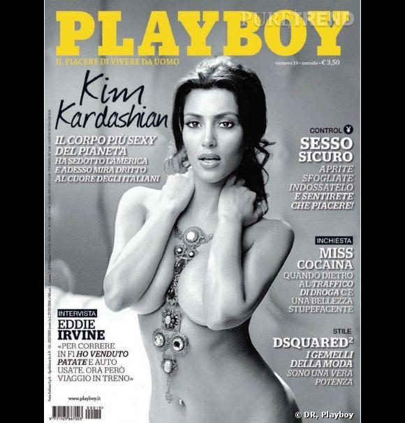 Kim Kardashian pour le Playboy Italie.