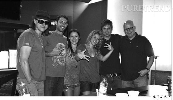 Shakira de retour dans les studios.