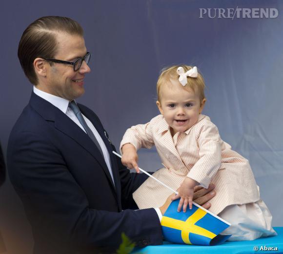 La petite Princesse de Suède est aussi la championne des grimaces.