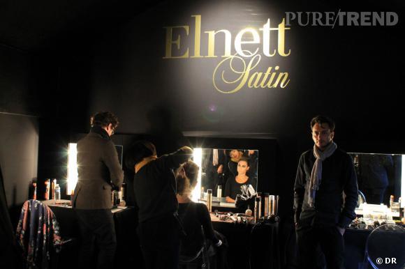 Le stand Elnett de la Vogue Fashion Night Out ressemblait à s'y méprendre à des backstages de défilé de mode!