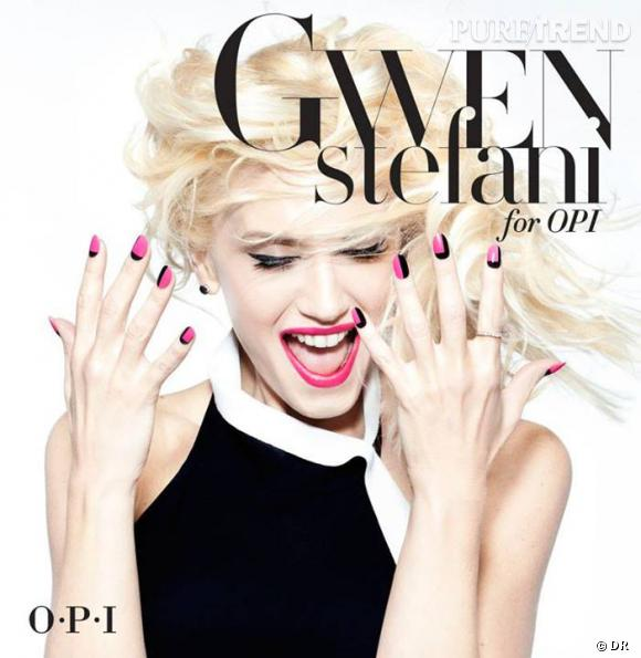 Gwen Stefani collabore avec OPI et prête son image rock'n'roll.