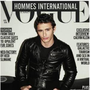 James Franco se glisse dans le perfecto de James Dean pour Vogue Hommes.