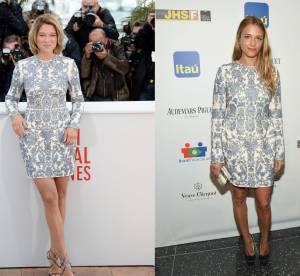 Lea Seydoux vs Charlotte Ronson : la robe tapisserie Valentino