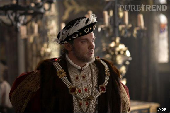 "Jonathan Rhys Meyers, séduisant en roi Henry VIII dans la série ""Les Tudors""."