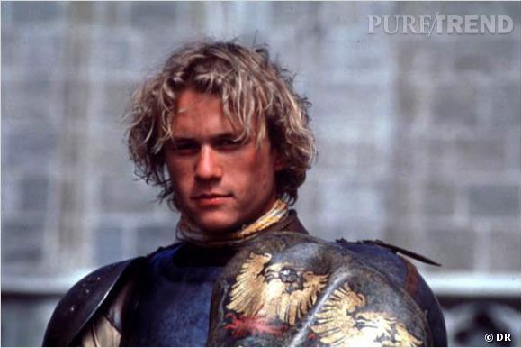 """Heath Ledger, jeune et fougueux dans """"Chevalier""""."""
