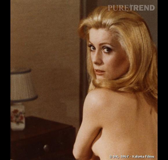 """Catherine Deneuve, un mythe dans """"Belle de jour"""", en 1967."""