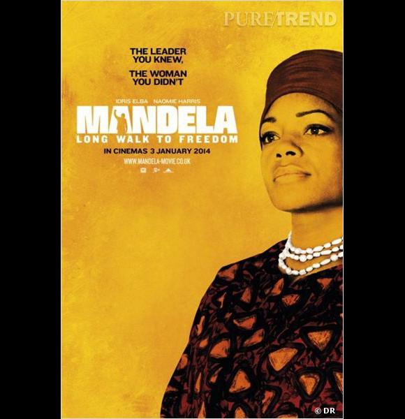 Naomie Harris interprète Winnie Mandela, la femme de Mandela.