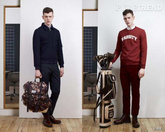 Collaboration Homme : A.P.C x Eastpak, sac à dos et sac de golf, 250 et 475 €