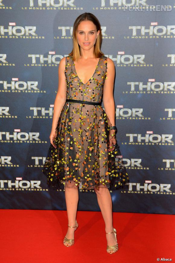 """Natalie Portman, à la première parisienne de """"Thor, le monde des ténèbres"""""""